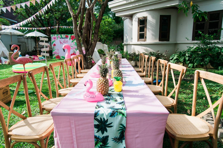 จัดปาร์ตี้วันเกิดในธีมฟลามิงโก้สุดน่ารัก ทั้งแบคดรอป ซุ้มลูกโป่ง ตกแต่งโต๊ะ และเกมส์สำหรับเด็กๆ